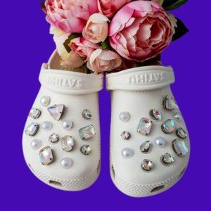 Crocs Shoe Jewel Charms DIAMONDS & PEARLS